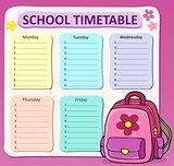 Weekly school timetable composition 8