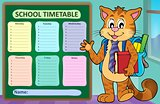 Weekly school timetable concept 1