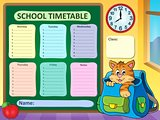 Weekly school timetable concept 3