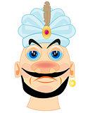 Portrait of the sultan in turban