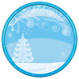 Christmas background, button