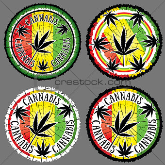 cannabis leaf silhouette design jamaican flag background