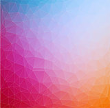 Abstract 2D triangle geometric colorful background