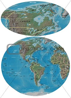 Canada and The Americas map
