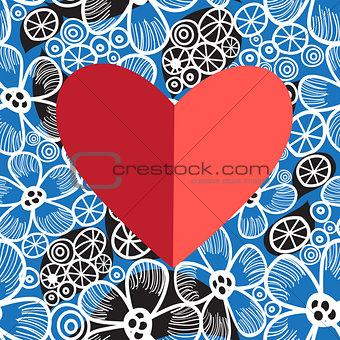 Bright festive heart
