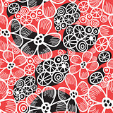 Graphic pattern and abstraction flowers