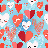 Bright pattern from different hearts