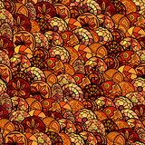 hand drawn vector ethnic seamless pattern