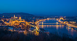 Cityscape of Budapest, Hungary at Twilight