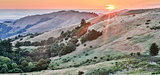 Sunset over Russian Ridge Open Space Preserve