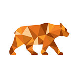 American Black Bear Side Low Polygon