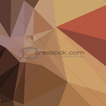 Antique Brass Brown Abstract Low Polygon Background