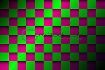 Abstract background, pink and green squares