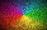 Colorful abstract background, color gradient with transparent squares