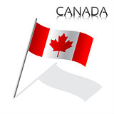 Simple vector Canada flag isolated on white background