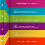 Modern 3D colorful infographic template, business concept with 4 options