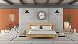 Bedroom in industrial style