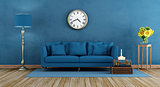 Retro blue living room