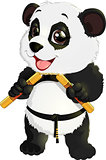 panda with nunchaku