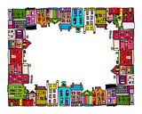 European city, frame for your design