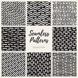 Vector Seamless Hand Drawn Lines Patterns Collection