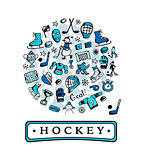 Hockey banner, sketch for your design