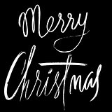 Merry Christmas vector calligraphy lettering