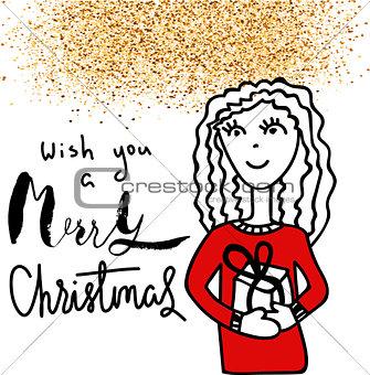 Christmas card. Holiday handwriting inspiration