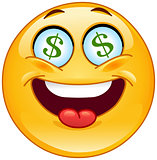 Dollar emoticon