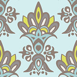 Luxury Damask flower seamless pattern background