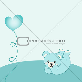Baby boy teddy bear background