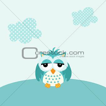 Baby owl boy background