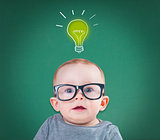 baby with glasses has an idea