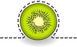 Ants around kiwi slice