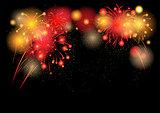 Hot festive fireworks