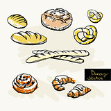 Sketch of bakery