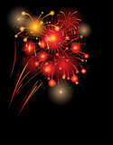 Red firework background