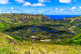 The crater of Rano Kau
