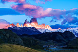 Fitz Roy mountain and El Chalten Village