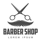vintage barber shop logos, labels, badges, design elements
