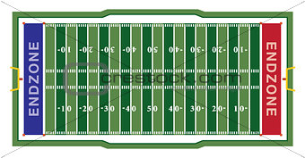 American Football Field Illustration