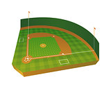 Realistic Baseball Field Illustration