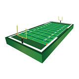 3D American Football Field Illustration