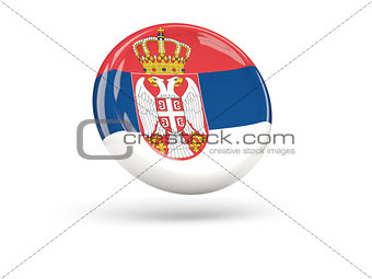 Flag of serbia. Round icon
