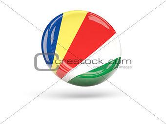 Flag of seychelles. Round icon