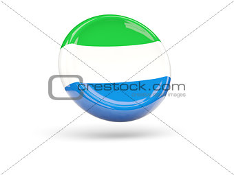 Flag of sierra leone. Round icon