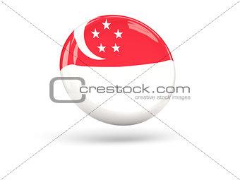 Flag of singapore. Round icon