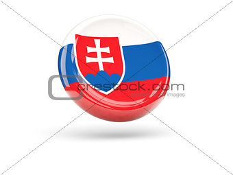 Flag of slovakia. Round icon