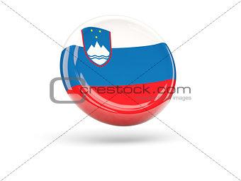 Flag of slovenia. Round icon