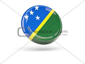 Flag of solomon islands. Round icon